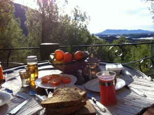 breakfast view Altea Swiss Cabin