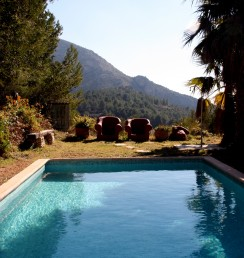 swimming pool at Casa del Paso, Bolulla, Algar Waterfalls,El Castell de Guadalest, Altea, Benidorm, Costa Blanca, Spain