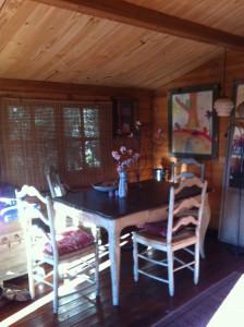 interior wooden cabin, Swiss Cabin at Casa del Paso, Bolulla, Algar Waterfalls,El Castell de Guadalest, Altea, Benidorm, Costa Blanca, Spain