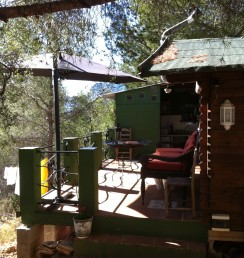 wooden cabin holiday rental at Casa del Paso, Bolulla, Algar Waterfalls,El Castell de Guadalest, Altea, Benidorm, Costa Blanca, Spain
